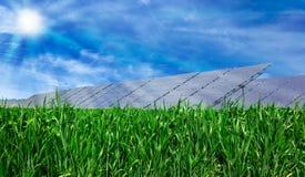 太阳电池板。 免版税库存图片