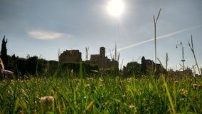 在绿草的城堡 免版税库存图片