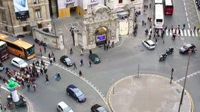 在巴黎街道上的交通  影视素材