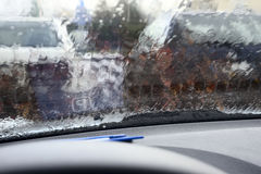 在仪表板的停车时间计时器 免版税库存照片