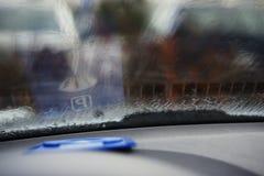 在仪表板的停车时间计时器 免版税库存图片