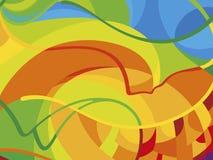 在巴西旗子的颜色的横幅背景 免版税库存照片