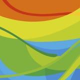 在巴西旗子的颜色的横幅背景 库存图片