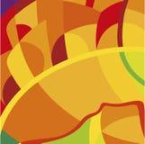 在巴西旗子的颜色的横幅背景 免版税图库摄影