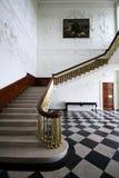 在主要室的台阶在Russborough庄严议院,爱尔兰里 免版税库存照片