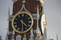 在主要手表俄罗斯国家的时间 图库摄影