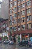 在主要的Hasting街在温哥华 库存照片