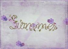 在绳索设计的词夏天 免版税库存图片