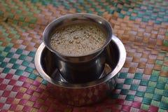 在翻转者的印地安咖啡 库存图片