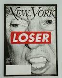 在2016总统选举前被发布的纽约杂志 免版税库存照片
