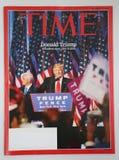 在2016总统选举以后被发布的时代杂志 库存图片