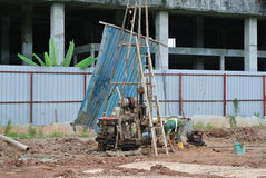 在建造场所使船具不耐烦在马来西亚 库存照片