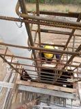在建造场所的专栏模板在马来西亚 图库摄影