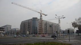 在建造场所的未完成的大厦 股票视频