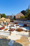 在建造场所的材料 免版税库存图片