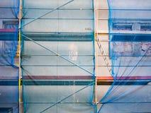 在建造场所的梯子 免版税库存图片