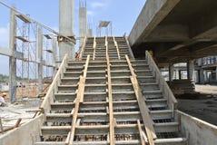 在建造场所的楼梯模板 库存照片