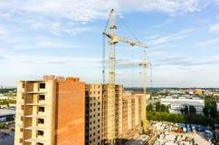在建造场所的看法在秋明州 免版税库存图片