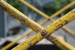 黄色scraffolding 库存图片