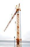 在建造场所的起重机 免版税图库摄影