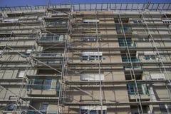 在建造场所2的建筑脚手架 免版税图库摄影