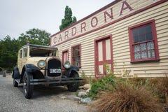 在1863建造的历史的Cardrona旅馆在Wanaka附近,新西兰镇  图库摄影