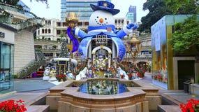在1881遗产的圣诞节装饰在香港 免版税库存照片