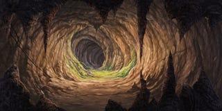 在洞里面的钟乳石 库存图片