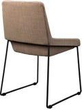 在黑金属腿的设计师棕色椅子 在白色背景隔绝的现代软的椅子 免版税库存照片