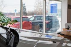 在2017年经销权福特陈列室和汽车在基洛夫市 图库摄影