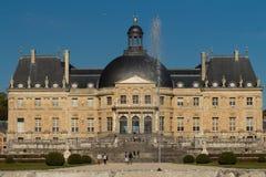 在巴黎附近的Vaux leVicomte castle,法国 免版税库存照片