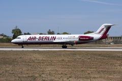 在登陆以后的柏林航空福克战斗机100 库存图片