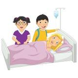 在医院传染媒介例证的孩子 库存图片