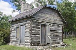 在奴隶制期间的克里斯巴尔老原木小屋地下铁道 免版税图库摄影