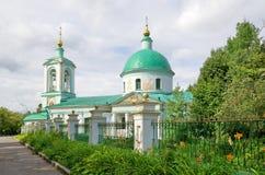 在麻雀小山的领港教会zhivonachalnoj,莫斯科,俄罗斯 库存图片