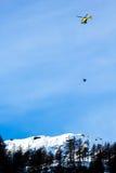 在滑雪世界杯的事故 免版税库存图片