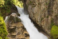 在滑雪胜地坏Gastein,奥地利,土地萨尔茨堡的瀑布 免版税库存图片