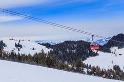 在滑雪胜地Soll的倾斜,蒂罗尔 免版税库存照片