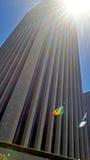 在阴霾的街市洛杉矶市地平线 免版税库存图片