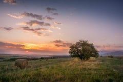 在索非亚附近的日出 库存图片