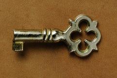 在绒面革的一点钥匙 库存照片