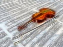 在活页乐谱的小提琴 免版税库存图片