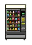 在黑颜色的自动售货机例证 免版税库存照片