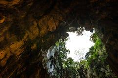 在黑风洞里面,马来西亚 免版税库存照片
