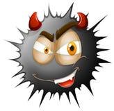 在黑飞溅的恶魔面孔 免版税图库摄影
