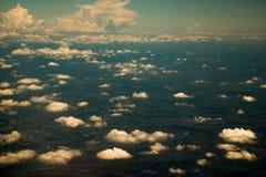 在从鸟瞰图的云彩 库存照片