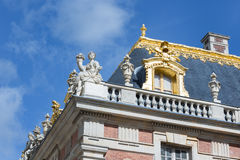 在巴黎,法国附近顶房顶细节宫殿凡尔赛 免版税库存图片