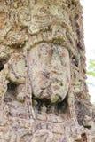 在730 AC,美妙地雕刻的Stela H特写镜头,在Copan印象深刻的玛雅考古学站点,洪都拉斯 免版税图库摄影