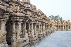 在685-705AD期间, Kailasanathar寺庙古庙和被兴建 库存照片