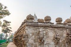 在685-705AD期间, Kailasanathar寺庙古庙和被兴建 免版税库存图片